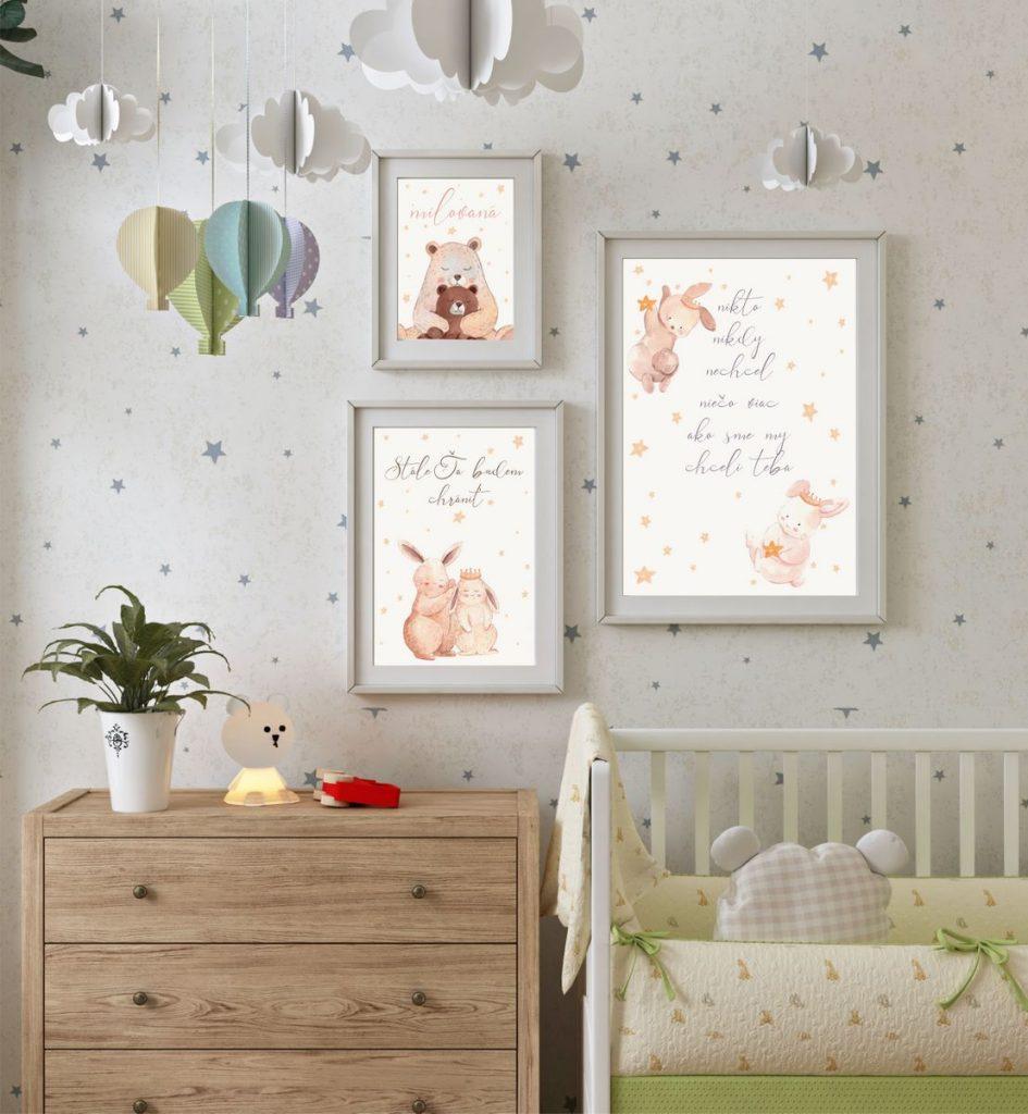 Zdarma obrázky do detskej izbičky. Zvieratká pre vaše bábätko. Dekorujte detskú izbu.