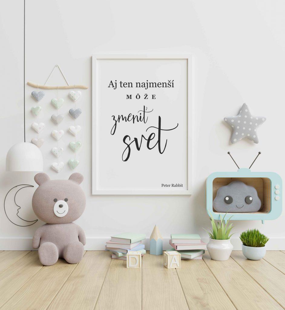 Krásny obrázok do detskej izbičky. Dekorujte stenu detskej izby plagátom. Zarámujte si tento krásny výrok a vyznajte lásku svojmu dieťaťu. Krásny darček pre bábätko.